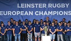May 13, 2018 - Dublin, Ireland - Members of the Leinster Team during the homecoming ceremony at Energia Park, Donnybrook, following their victory in the European Champions Cup Final in Bilbao, Spain..On Sunday, May 13, 2018, in Donnybrook, Dublin, Ireland. (Credit Image: © Artur Widak/NurPhoto via ZUMA Press)