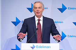 © Licensed to London News Pictures. 29/01/2019. London, UK. Former British prime minster Tony Blair makes a speech at the launch of Edelman Trust Barometer 2019. Photo credit: Ray Tang/LNP