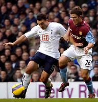 Photo: Ed Godden.<br /> Tottenham Hotspur v Aston Villa. The Barclays Premiership. 26/12/2006. Spurs' Steed Malbranque (L), makes his way past Craig Gardner.