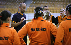 Coach of Brezice Luka Sebek at  handball game between women team RK Olimpija vs ZRK Brezice at 1st round of National Championship, on September 13, 2008, in Arena Tivoli, Ljubljana, Slovenija. Olimpija won 41:17. (Photo by Vid Ponikvar / Sportal Images)