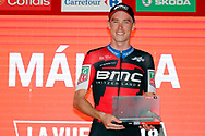 Podium, Rohan Dennis (AUS - BMC) winner, during the UCI World Tour, Tour of Spain (Vuelta) 2018, Stage 1, individual time trial, Malaga - Malaga (8km) in Spain, on August 26th, 2018 - Photo Luis Angel Gomez / BettiniPhoto / ProSportsImages / DPPI