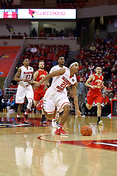 26 November 2016:  Madison Williams(25) gets a hammer jam from this breakaway during an NCAA  mens basketball game between the Ferris State Bulldogs the Illinois State Redbirds in a non-conference game at Redbird Arena, Normal IL