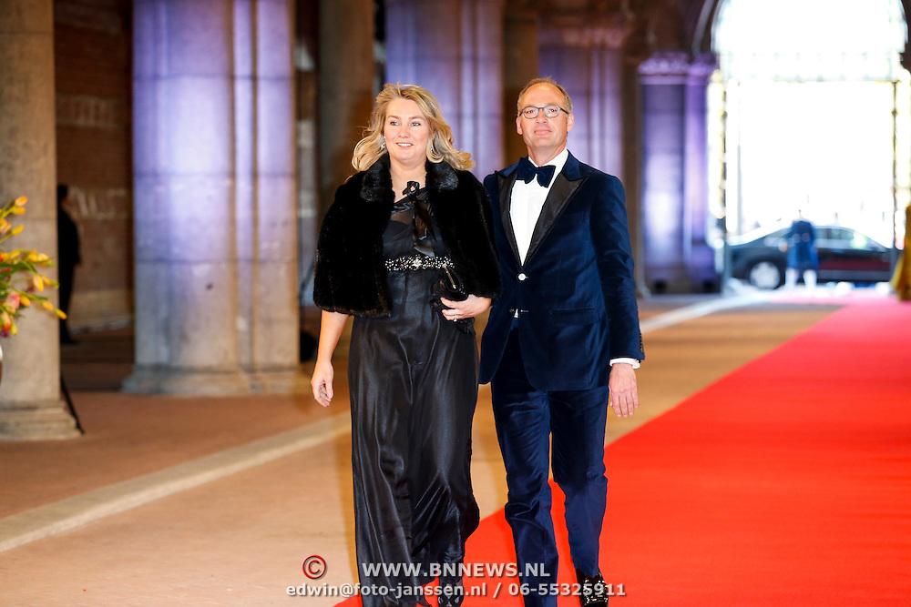 NLD/Amsterdam/20130429- Afscheidsdiner Konining Beatrix Rijksmuseum, Melanie Schultz van Haegen and partner