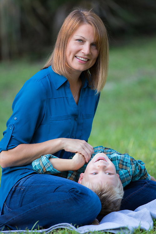 Family portraits of Jason and Lynn Stuart, and their children, Zach, Greg, and Gavin, at Kanapaha Park in Gainesville, Florida.