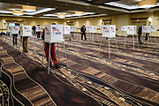 03 NOVEMBER 2020 - WEST DES MOINES, IOWA: People voting at the Jordan Creek Crossing Event Center on Election Day in West Des Moines. Voter turnout was heavy at most polling places in the Des Moines metro area.       PHOTO BY JACK KURTZ