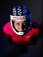 Skeleton slider Noelle Pikus-Pace poses for a portrait at the 2010 United States Olympic Team Media Summit in Chicago on September 11, 2009.  (UPI)