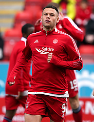 Aberdeen's Christian Ramirez warming up prior to kick-off during the cinch Premiership match at Pittodrie Stadium, Aberdeen. Picture date: Sunday October 3, 2021.