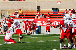 NORMAL, IL - August 14: JT Bohiken during a college football pre-season scrimmage of the  ISU (Illinois State University) Redbirds August 14 2021 at Hancock Stadium in Normal, IL. (Photo by Alan Look)