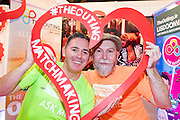 27/1/16 Eddis McGuinness and John Hawkins at The Outing stand, part of the Lisdoonvarna Matchmaking Festival for the LGBT community at the Holiday World Show 2017 at the RDS Simmonscourt in Dublin. Picture: Arthur Carron