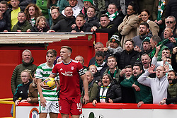 Celtic fans aim abuse at Aberdeen players during the cinch Premiership match at Pittodrie Stadium, Aberdeen. Picture date: Sunday October 3, 2021.