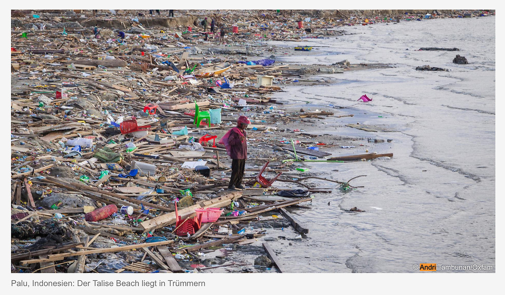 Oxfam. Tsunami / Earthquake in Palu, Sulawesi Indonesia.