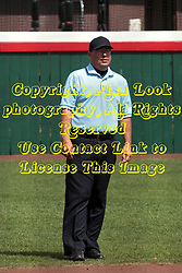 09 May 2014:  Umpire Chad Spitler during an NCAA Missouri Valley Conference (MVC) Championship series women's softball game between the Loyola Ramblers and the Illinois State Redbirds on Marian Kneer Field in Normal IL