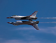 Thunderbirds F-16 Fighting Falcon at 2015 California Capital Airshow.