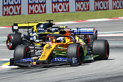 May 10, 2019 - Barcelona, Catalonia, Spain - Lando Norris, team McLaren Honda and Daniel Ricciardo, team Renault Sport F1 Team during F1 Grand Prix free practice celebrated at Circuit of Barcelona 10th May 2019 in Barcelona, Spain. (Credit Image: © Mikel Trigueros/NurPhoto via ZUMA Press)