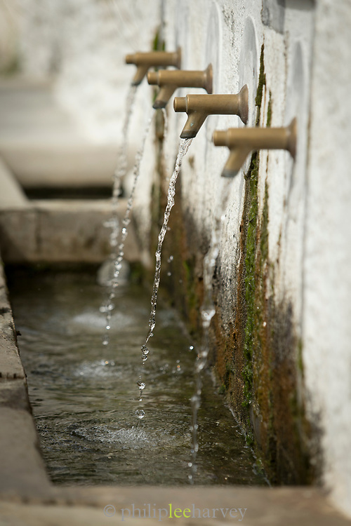 Close-up of communal wash basin, Trevelez, Andalusia, Spain