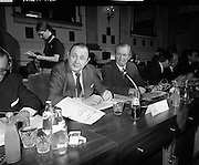 European Foreign Ministers Meet in Dublin.  (J2)..13.02.1975..02.13.1975..13th February 1975..A meeting of European foreign ministers took place in Dublin today. Ireland's representative at the meeting was Dr Garret Fitzgerald, the minister for Foreign Affairs. Other ministers attending the meeting were:.Mr M.Van Eslande...Belgium..Mr M.E. Joergenson...Denmark..Mr M.M.Rumor...Italy..Mr M.Jean Sauvagnargues...France..Mr M.Gaston Thorn...Luxembourg..Mr M.M.Van der Stoel...Holland..Mr Hans-Dietrich Genscher...Germany..Mr Roy Hattersley...Great Britain..and representing the Commission,.Mr. M.Francois-Xavier Ortoli..St Patrick's Hall,Dublin Castle, was the venue chosen for the meeting..Image of the German Foreign Affairs Minister,Mr Hans-Dietrich Genscher, at the meeting at Dublin Castle.