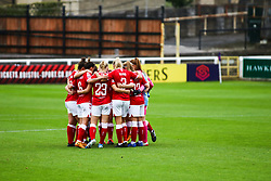Bristol City Women  prior to kick off- Mandatory by-line: Will Cooper/JMP - 18/10/2020 - FOOTBALL - Twerton Park - Bath, England - Bristol City Women v Birmingham City Women - Barclays FA Women's Super League