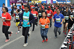 December 16, 2018 - Kolkata, West Bengal, India - People participate during Tata Steel Kolkata 25K 2018. (Credit Image: © Saikat Paul/Pacific Press via ZUMA Wire)
