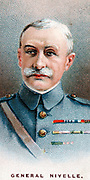 Robert Nivelle (1857-1924) French general. Commander-in-Chief  December 1916 to May 1917: superseded by Petain. Chromolithograph card 1917.