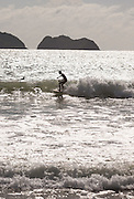 Surfer, Red Island Beach, Red Island, Banyuwangi Regency, East Java, Indonesia, Southeast Asia