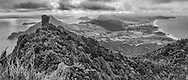 Top of Te Whara (Bream Head), Whangarei Heads.<br /> Limited edition fine art print.<br /> <br /> Standard print: $165.00<br /> Archival Print: $375.00<br /> Framed: $650.00<br /> <br /> Image size L:700mm x H:290mm.<br /> <br /> Larger print size available up to 1 metre (length) also available in canvas.<br /> <br /> Available to view, MD Gallery (12 Rust Ave)<br /> <br /> To order direct, contact Alan through the contact tab above.<br /> <br /> <br /> * p&p free within the Whangarei district.