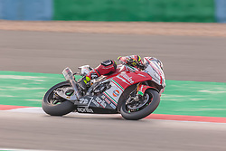 September 28, 2018 - 32, Lorenzo Savadori, ITA, Aprilia RSV4 RF, Milwaukee Aprilia, SBK 2018, MOTO - SBK Magny-Cours Grand Prix 2018, Free Practice 3, 2018, Circuit de Nevers Magny-Cours, Acerbis French Round, France ,September 28 2018, action during the SBK Free Practice 3 of the Acerbis French Round on September 28 2018 at Circuit de Nevers Magny-Cours, France (Credit Image: © AFP7 via ZUMA Wire)
