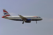 Italy, Milan, Linate Airport, British Airways passenger jet