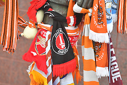 A Charlton Athletic scarf in the tributes to Jimmy Armfield