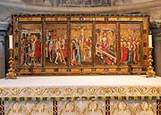 Despenser Retable altar reredos c 1382 in St Luke's chapel, Norwich Cathedral, Norfolk, England, UK