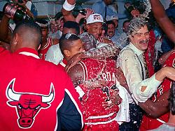 Michael Jordan and the Bulls win, 1991