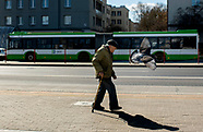 Puste ulice Białegostoku z powodu epidemii koronawirusa