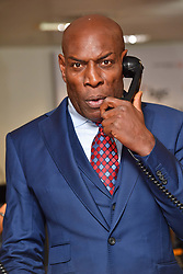 September 12, 2018 - London, England, United Kingdom - 9/11/18.Frank Bruno at the 14th Annual BGC Charity Day at BGC Partners in Canary Wharf, London, England, UK. (Credit Image: © Starmax/Newscom via ZUMA Press)