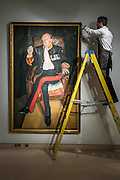 LUCIAN FREUD (1922-2011)<br /> The Brigadier<br /> Painted in 2003-2004.<br /> Estimate: $25,000,000-35,000,000 - Christie's showcases  the London Post-War and Contemporary Art Evening Sale in October, alongside an exceptional selection of works from the  New York sales in November of Impressionist, Modern, Post-War And  Contemporary Art. The works will be on view to the public from Saturday 10 October to Saturday 17 October at Christie's King Street. The highlight is  Amedeo Modigliani's, 'Nu couché (Reclining  Nude)', painted in 1917-18, which has an estimate in the region of $100 million.