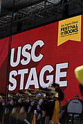 Trojan Marching Band kicks off the event at the Los Angeles Times Festival of Books held at USC in Los Angeles, California on Saturday, April 22, 2017