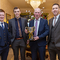 Ballyea's Cillian and Gary Brennan with their cousin Brian Casey and uncle Martin Casey