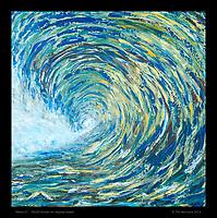 """""""Wave 01"""", 30x30 Acrylic on display board"""
