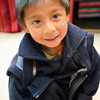 Americas, South America, Peru, Pisac. Young Peruvian boy.