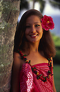 Young Polynesian woman<br />