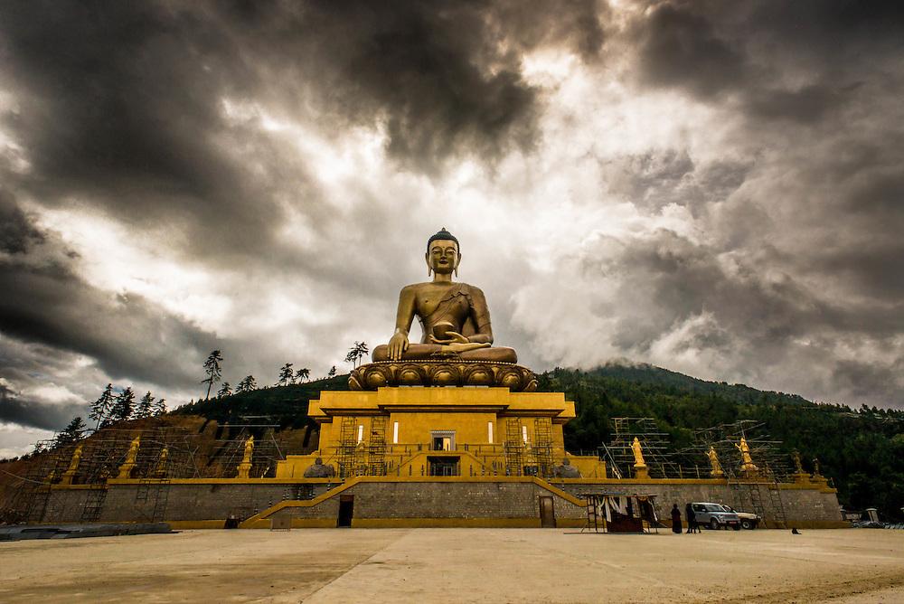 Bhudda statue in Thimpu, Bhutan <br /> <br /> Full photoessay at http://xpatmatt.com/photos/bhutan-photos/