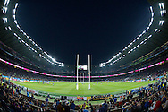 a General view of inside Twickenham Stadium before k/o. Rugby World Cup 2015 pool D match, France v Italy at Twickenham Stadium in London on Saturday 19th September 2015.<br /> pic by John Patrick Fletcher, Andrew Orchard sports photography.