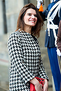 Nieuwjaarsontvangst voor Nederlandse genodigden op het Koninklijk Paleis op de Dam.<br /> <br /> op de foto:  Barbara Visser