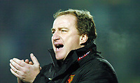 Picture: Henry Browne.Digitalsport<br /> Date: 30/11/2004.<br /> Watford v Portsmouth Carling Cup Quarter Final.<br /> Watford's manager Ray Lewington applauds his team.
