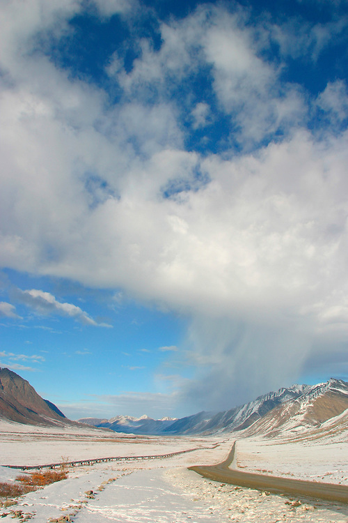 The James Dalton Highway, transport and support road for the Trans-Alaska Pipeline