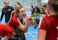 ROTTERDAM - De vrouwen van Craijenhout promoveren naar de hoofdklasse. NK Zaalhockey hoofdklasse. FOTO KOEN SUYK