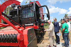 The Prince of Wales during a visit to Mariel Solar Park and Biomass Harvesters, in Havana, Cuba, as part of an historic trip which celebrates cultural ties between the UK and the Communist state.