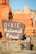 Entrance to Dixie National Forest, Utah, United States of America