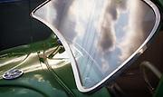 Image of an early green Volkswagen Beetle Bug, Orange County, California, America west coast by Randy Wells