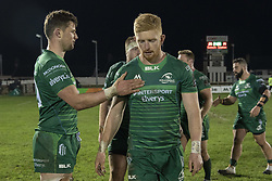 March 22, 2019 - Ireland - Eoghan Masterson and Darragh Leader both of Connacht during the Guinness PRO14 match between Connacht Rugby and Benetton Rugby at the Sportsground in Galway, Ireland on March 22, 2019  (Credit Image: © Andrew Surma/NurPhoto via ZUMA Press)