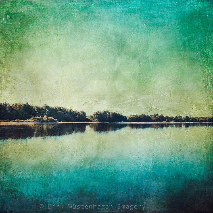 River banks of the Loire on a quite summer morning - textured photograph<br /> Redbubble--> https://www.redbubble.com/shop/ap/53894249?asc=u