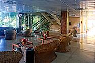 Lobby of the Hotel Ciego de Avila, Cuba.